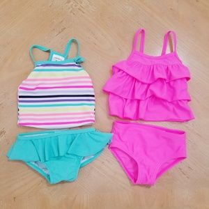 2 Carter's tankini's 6 months. Excellent condition